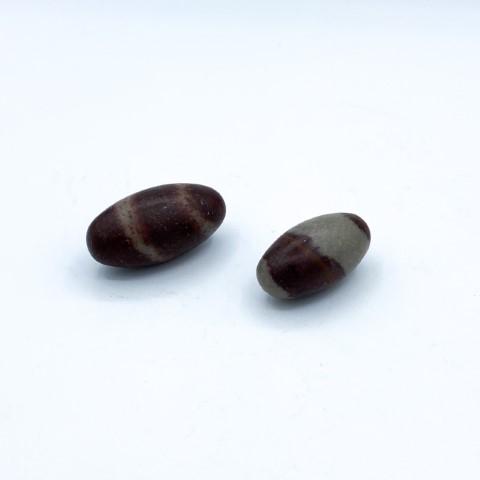Setje van 2 shiva lingam stenen
