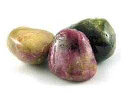 Watermeloen toermalijn - 3 stenen